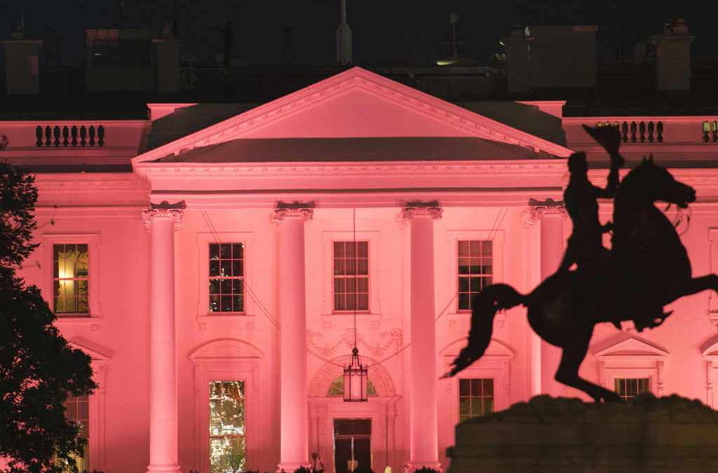 White House Turns Pink for Breast Cancer