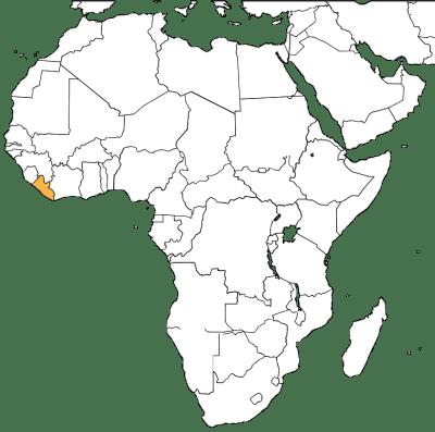 Liberia in Africa