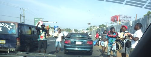 Street selling in Monrovia