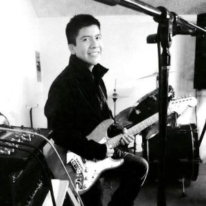 Benito Sanchez with guitar