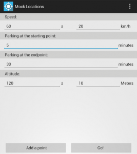 Mock Locations app