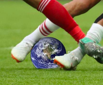soccer ball + earth