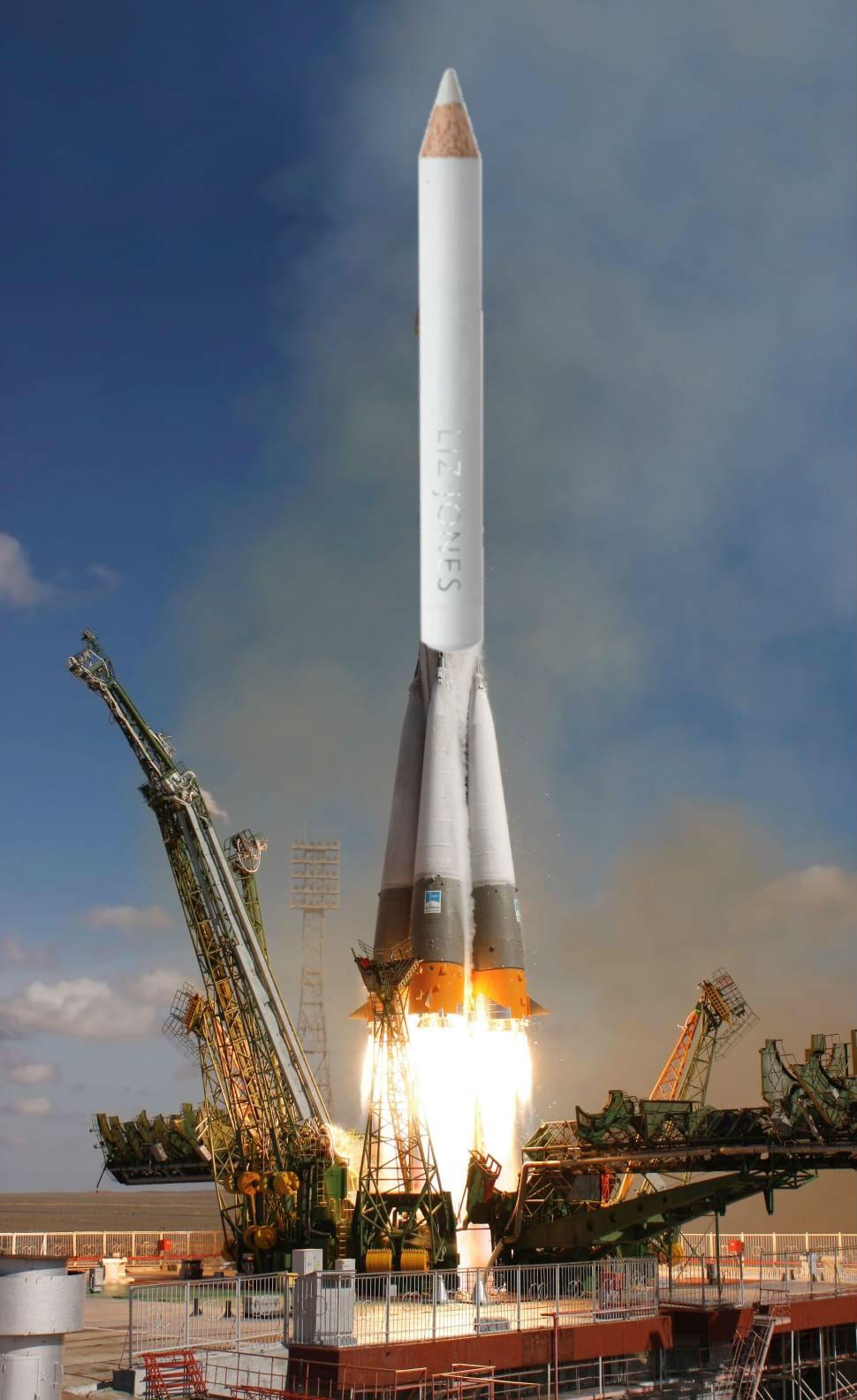 rocket + pencil