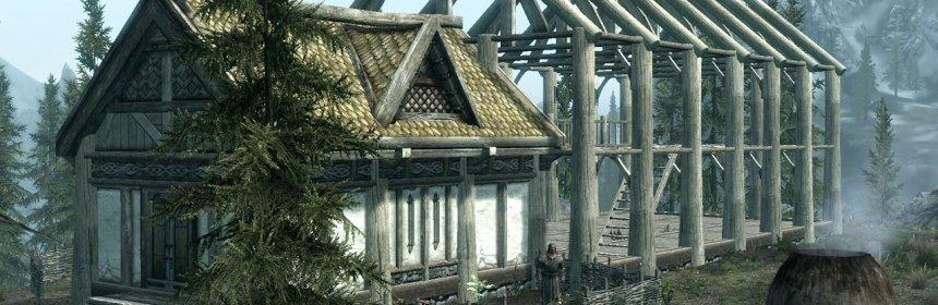 """""""Hearthfire midbuild"""" by Elder Scrolls Wiki user Jimeee.  Screenshot from Elder Scrolls V: Hearthfire by Bethesda Software"""