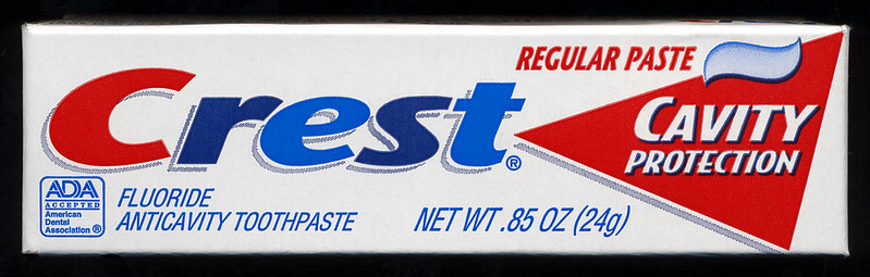 Photo of a Crest toothpaste box