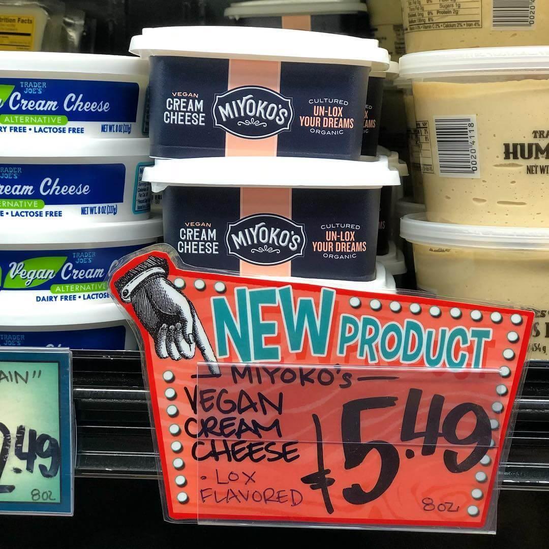 miyokos vegan cream cheese at trader joes