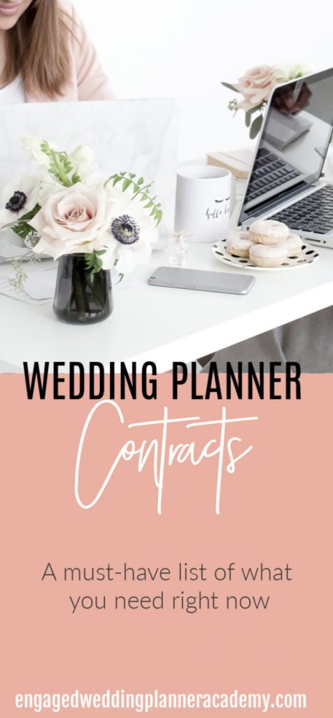 Here is a list of different types of wedding planner contracts you need for the first year of business and the why behind them. Become a wedding planner tips, business, contracts, Event Planner, how to become a wedding planner, Legal, resources, Setting Boundaries in Business, The Engaged Legal Collective, Wedding Business, Wedding career, wedding planner business, wedding planner contract, Wedding Planner Contracts, wedding planner education, Wedding Planner products, wedding planner tools