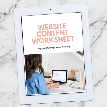 Website Content Worksheet