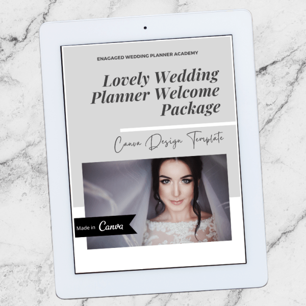 Lovely Wedding Planner Welcome Package Template