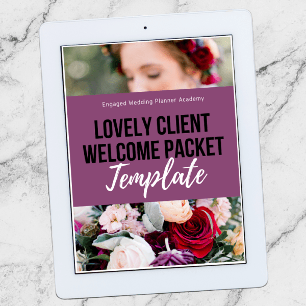 Lovely Wedding Planner Welcome Packet Template