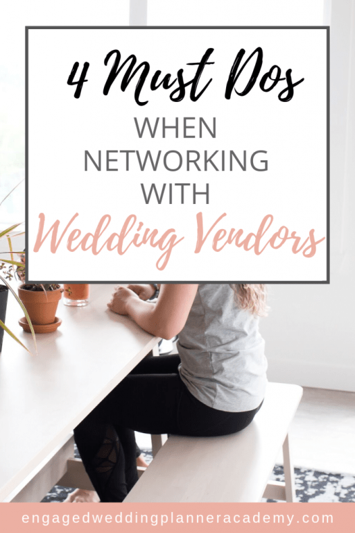 Learning to effectively network is often a skill that needs cultivating. Read these must dos when it comes to successfully networking with wedding vendors. | networking for wedding planners, Networking with Wedding Vendors, wedding planner business ideas, wedding planner business template, wedding planner business tips, wedding planner guide, wedding planner tips, wedding planning business tools