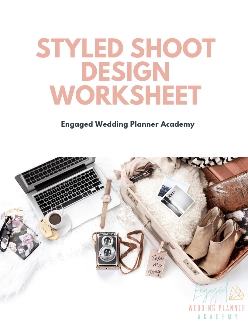 styled shoot guide, styled shoot workbook, styled shoot mood board