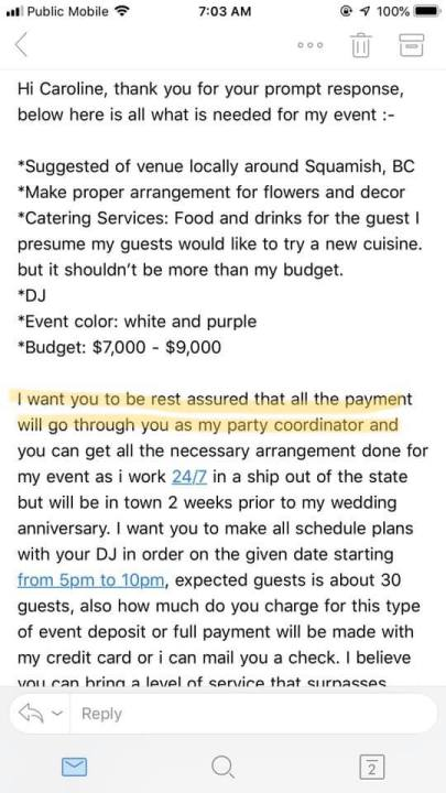 In this post, I share tips on how to recognize a wedding planner scam and what to do if a scammer contacts you. | becoming a wedding planner, Elevate Your Wedding Planner Business, How to Start a Wedding Planning Business, wedding planner bookkeeping, wedding planner business, wedding planner business plan, wedding planner education, wedding planner mentor, Wedding Planner Scam, wedding planner tips, wedding planner tools