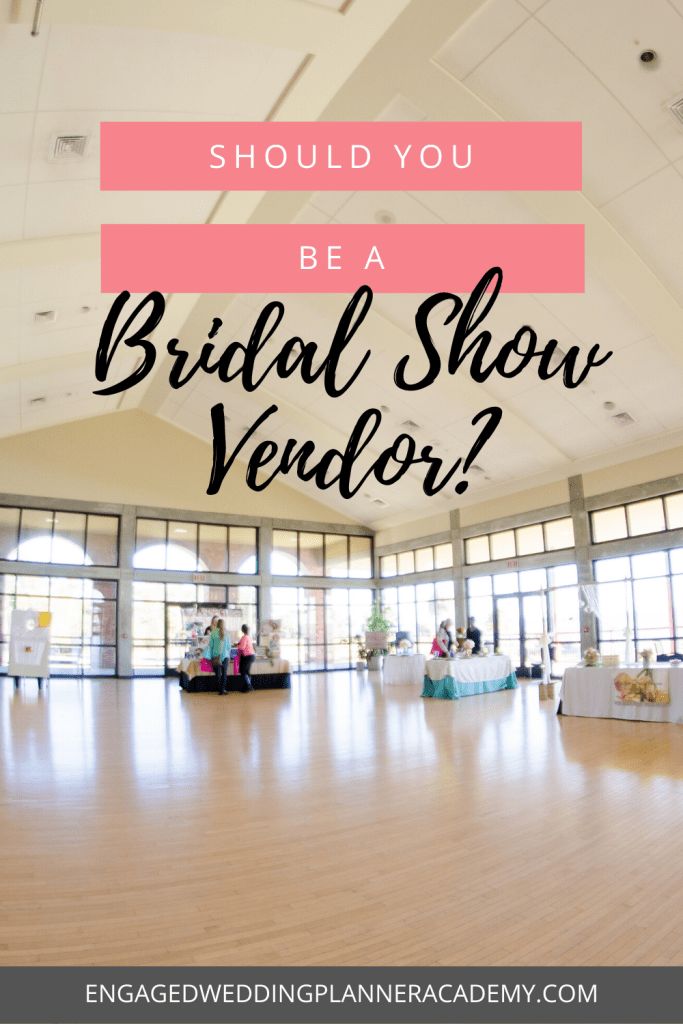 If you've ever wondered if you should sign up to be a bridal show vendor, this post will give you some tips and pointers on how to prepare. | becoming a wedding planner, bridal expo, bridal show tips, Bridal Show Vendor, bridal show vendor checklist, how to produce a bridal show, Wedding Planner Career, wedding planner education, wedding planner marketing, Wedding Planner Marketing Tips, wedding planner tips