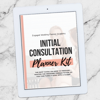 Initial Wedding Consultation Planner Kit