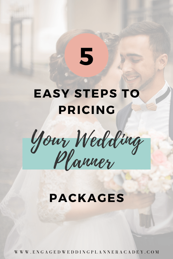 When you're a new wedding planner, figuring out how much to charge can be a real challenge. Learn how to price your packages with these 5 steps. | new wedding planner, Wedding Planner, wedding planner business, Wedding Planner Career, Wedding Planner Packages, Wedding Planner Packages Prices, Wedding Planner Prices Wedding Planner Packages