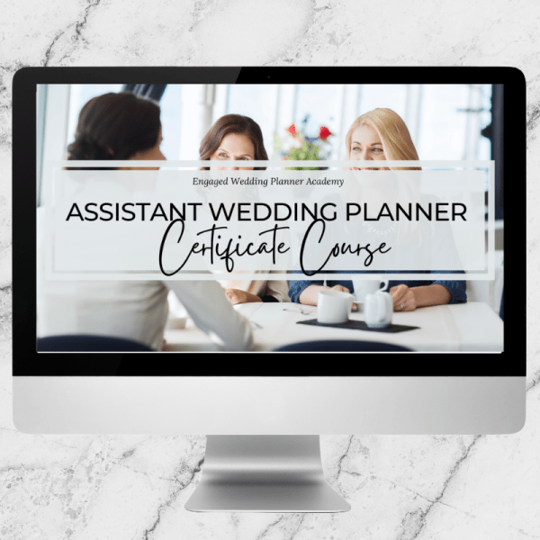 Assistant Wedding Planner Certificate