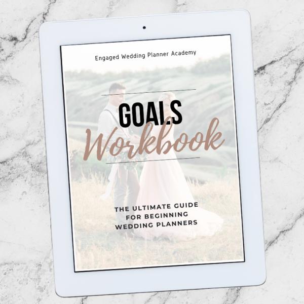 Wedding Business Goals Workbook