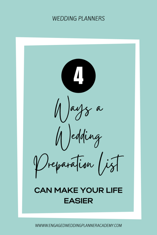 If you're offering wedding management to your clients, you need to be prepared! Inside this post I'll give you a wedding preparation list you can follow. | 	event planning checklist, template wedding planning checklist, Wedding Planner Templates, wedding planner tools, Wedding Planning Timeline, Wedding Preparation List, wedding reception checklist, wedding template