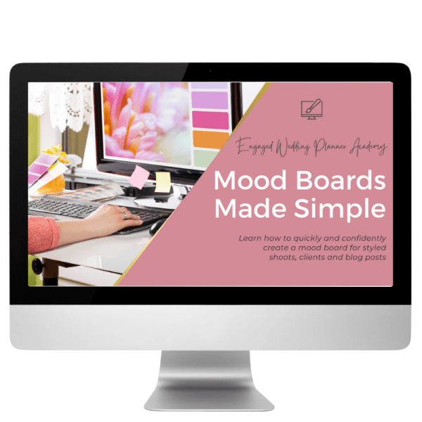 Mood Board Design Course for Newer Wedding Planners
