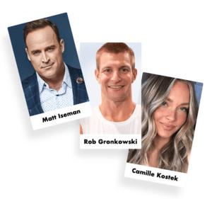 Matt Iseman, Gronk and Camille Kostek