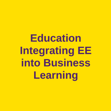 education integrating into business learning