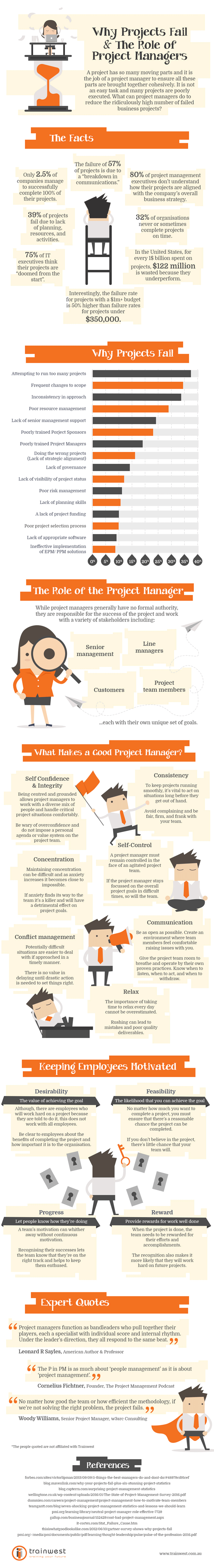 Why projects fail and the role of project managers