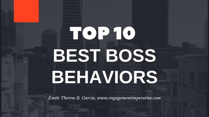 Top 10 Best Boss (Leader) Behaviors