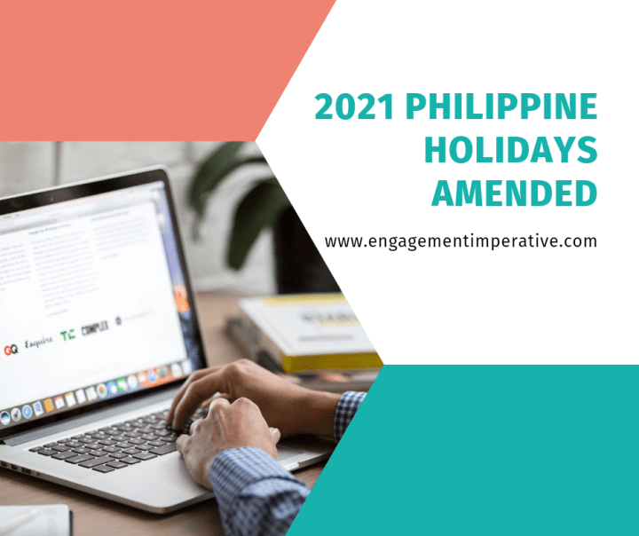 2021 Philippine Holidays (Amended)