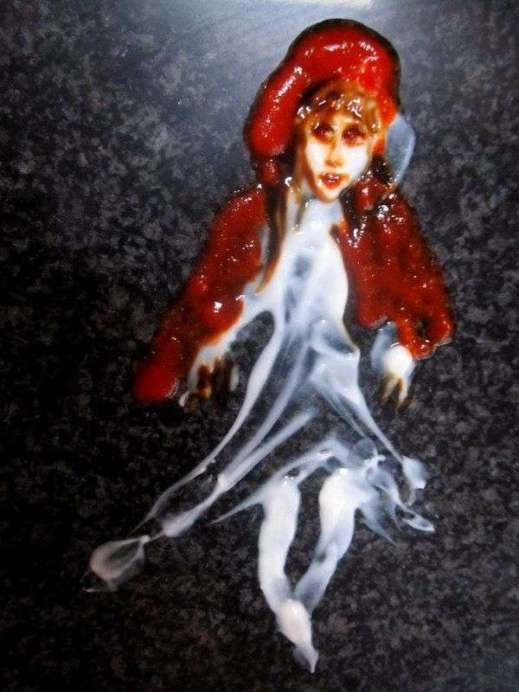 These yogurt fairytale paintings are a bit spooky, and I'm pretty sure they are NOT meant to be eaten!