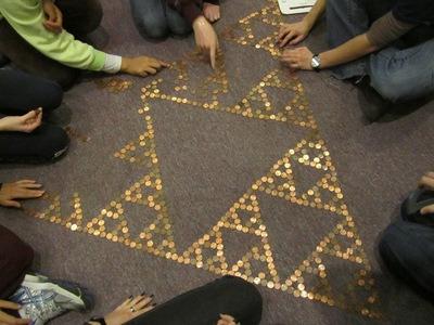 Penny Sierpenski Triangle