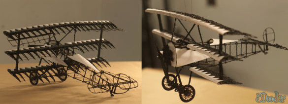 Triplane created with 3Doodler featured on the 3Doodler blog