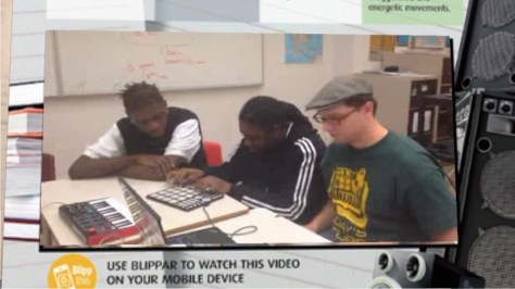 """image from video in Brainspace Magazine's """"School of Rap"""" article"""