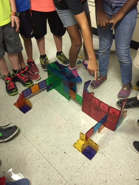 "The challenge was to build ""something funny"" so this group designed an office building shaped like eyeglasses."