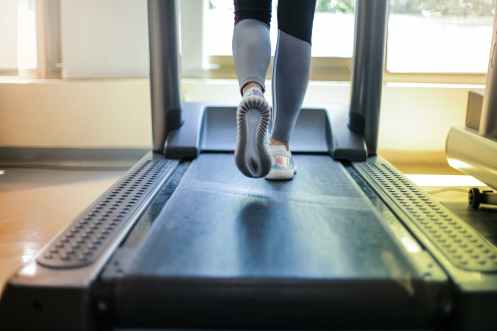 photo of person using treadmill