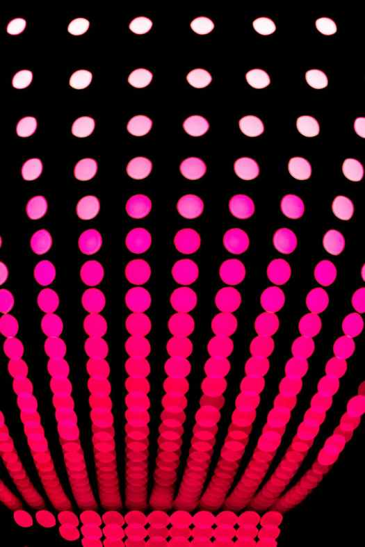 pink and red polka dot pattern artwork