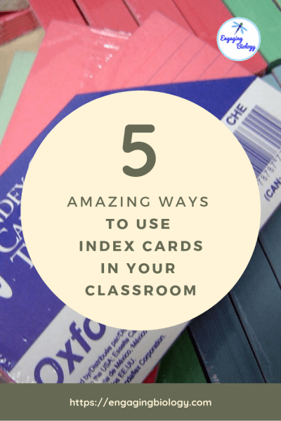 index cards in classroom