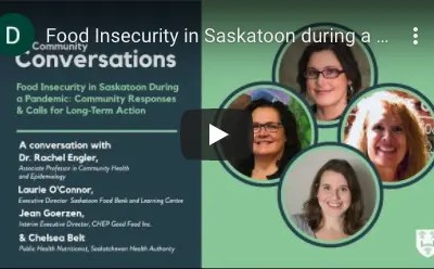 Food Insecurity in Saskatoon During a Pandemic: Community Responses and Reflections for Long-Term Systemic Change