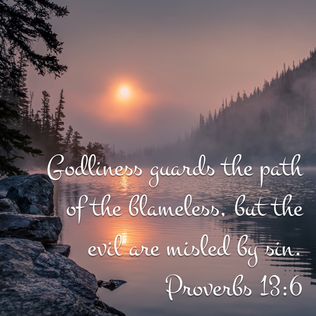 godliness guards the path of the blameless