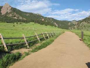 One of the hiking trails at Colorado Chautauqua.
