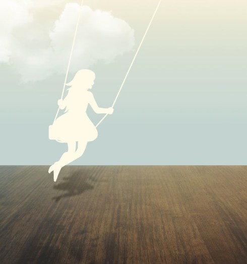 girl on swing image