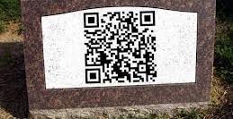 codigo QR en lápida
