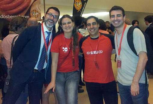 Con Victor Puig y Javier Casares.