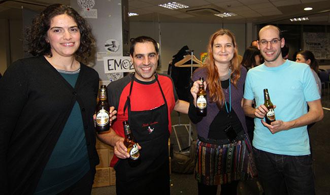 De derecha a izquierda: Andrea Minguez @andreadebilbao, Gorka Goikoetxea @SemBilbao, Lucía Marín @SeoBilbao, Xiber Aguilera @xiberaguilera.