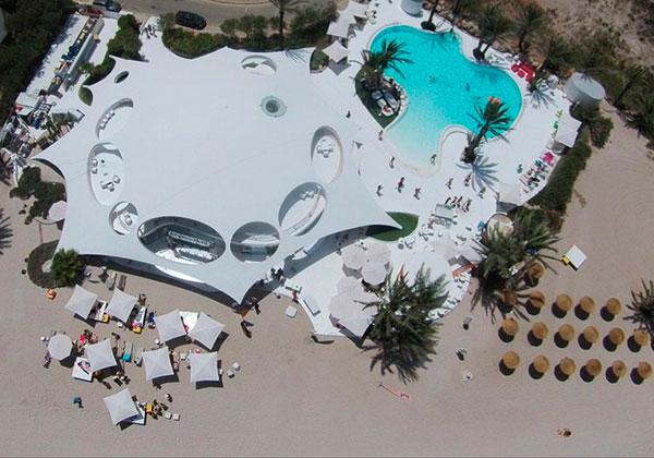 Vista aérea de Collados Beach