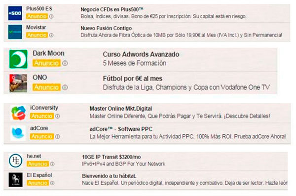 Anucios de Adwords en Gmail