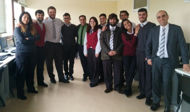 Alumnos de la Escuela de Hosteleria