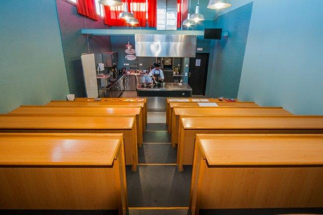 Aula de la Escuela de Hostelería de Bilbao