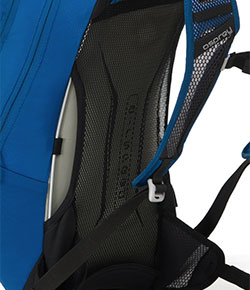 Osprey Hydraulics Hydration Pack Syncro 3 airspeed suspension backpanel