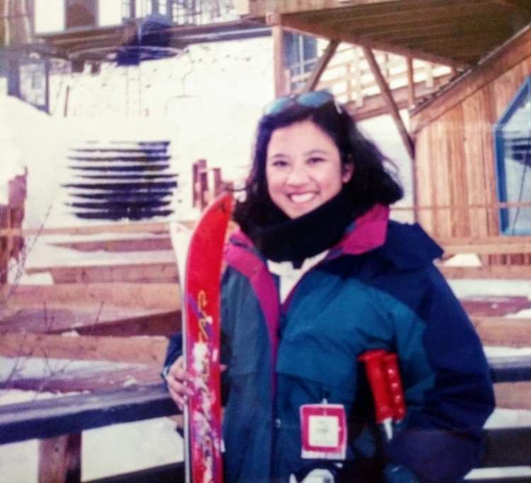 Kate Agathon at Cuchara Valley Ski Area in the 1990s